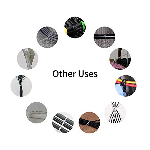 Zip Ties, Laishuo 200 Pcs Adjustable Durable Self locking Black Nylon Zip Cable Ties for Home Office Garage Workshop Heavy Duty