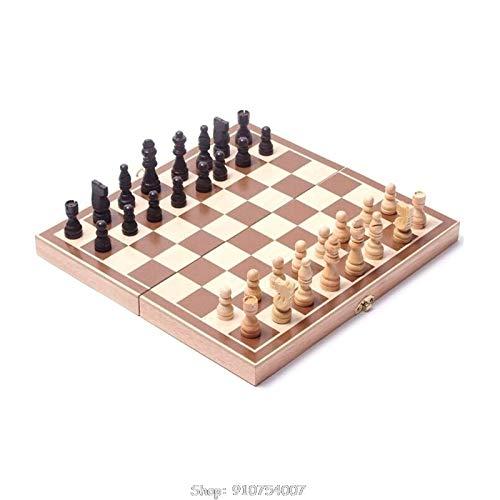ARLTArlt 3 en 1 Juego de Juegos de ajedrez Internacional de Madera Juegos de Viaje Ajedrez