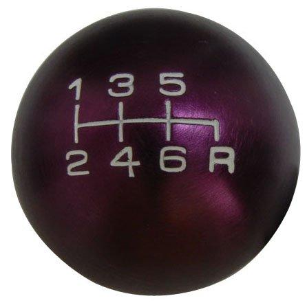 VMS Racing 10x1.25mm Thread 6 Speed JDM Round Ball Shift Knob in Purple Billet Aluminum for Mazda Miata RX8 RX-8