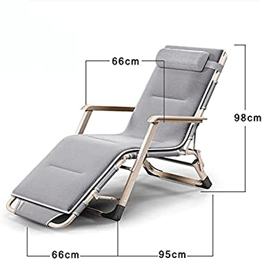 YZPDD Folding Zero Gravity Reclining Lounge Chairs Outdoor Beach Patio - Steel Frame 600D Oxford Folding Camping Cot Chaise B