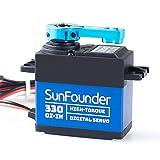 SunFounder 25KGコアレスサーボ 、高トルク330oz-inコアレスデジタルサーボモーター、ロボットDIY RCカー用 防水サーボ、1/10 1/12 RCラジコンカー、多数のTraxxas 1/10スケール電気モデルに適用(動作角度約180°)