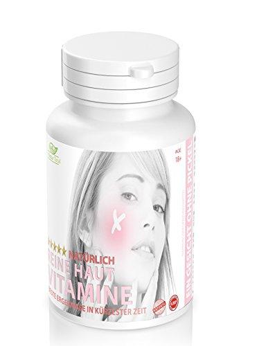 Natürlich reine Haut ohne Pickel 120 Tabletten gegen Pickel, Akne, Mitesser und unreine Haut.