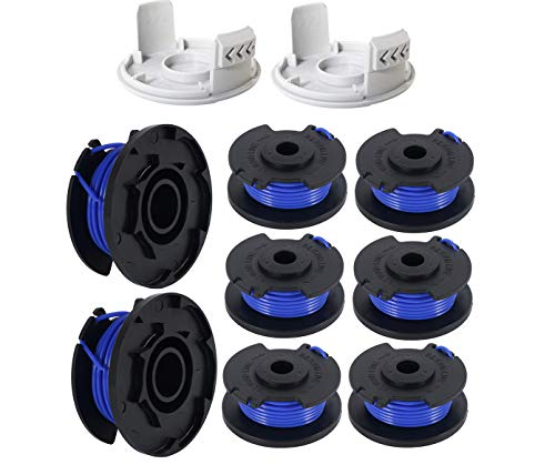 LEIMO 0.065 String Trimmer Spool Line for Ryobi One+ AC14RL3A, 0.065' Autofeed Replacement Spools for Ryobi 18V, 24V, and 40V Cordless Trimmers (10 Pack)