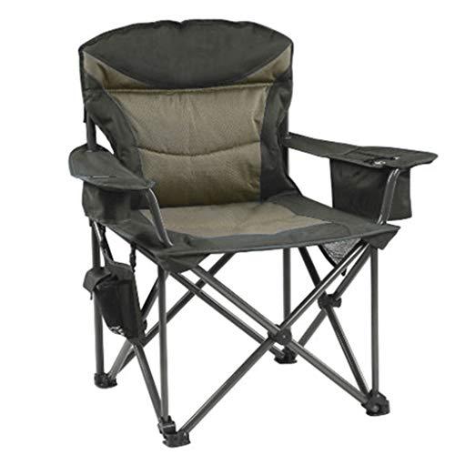 Xyf Silla de Camping portátil Silla de Playa de algodón Silla Plegable al Aire Libre Sillón con Respaldo para Senderismo, Playa, Pesca, al Aire Libre, Servicio Pesado, Capacidad de 440 LB