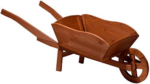 dobar 29095e decorativo Carriola massiccia XXL Piantare in legno di pino impregnato colorazione