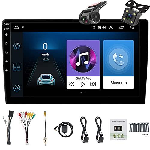 Android 2 Din Bluetooth GPS estéreo para autoradio, Reproductor multimedia MP5 para automóvil de 9' Entrada USB SD AUX, Audio para auto, Radio FM, WiFi, Enlace espejo, Cámara de visión trasera DVR