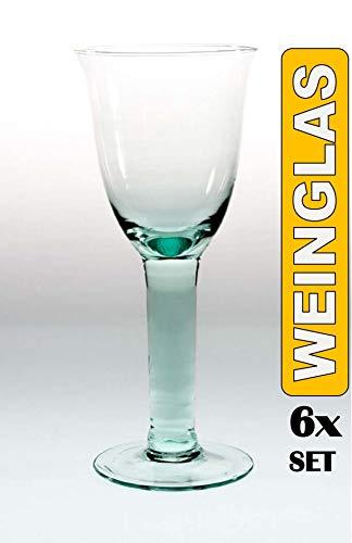 Weißweinglas 100% Recycling elegantes Trinkglas Outdoor 6 Stück Paul Nagel 1640200