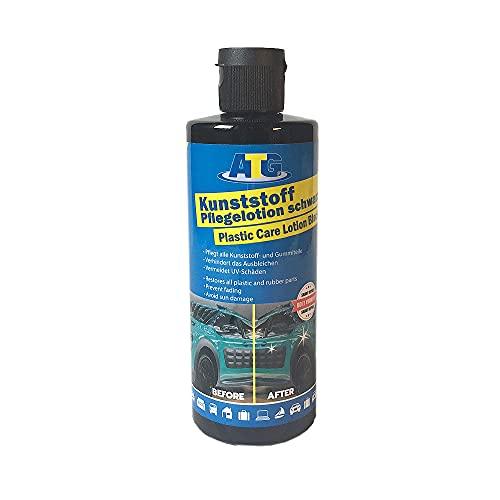 ATG Kunststoffpflege Lotion schwarz - Gummipflege, 250 ml - Pflegt und frischt Schwarze Kunststoff und gummierte Teile auf