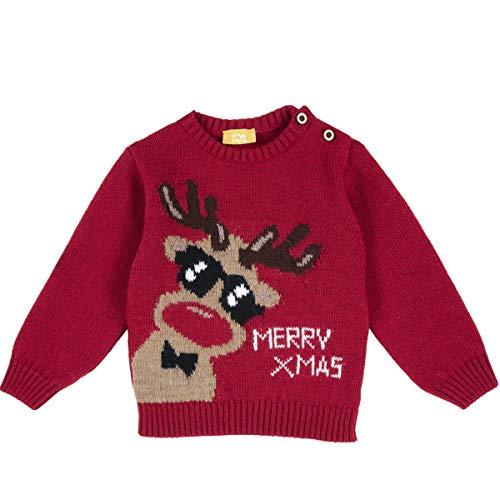 Chicco, Maglia Merry Christmas, Renna (9 Mesi)
