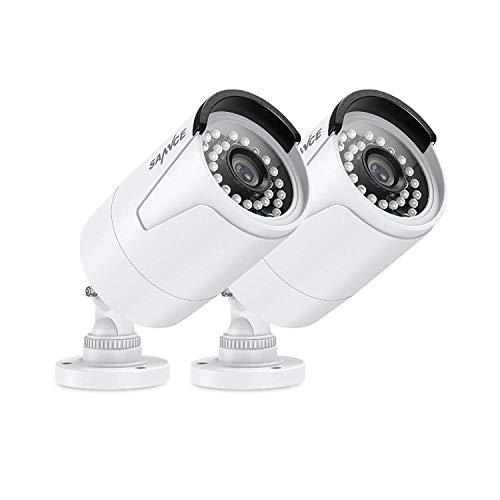 SANNCE 5MP 2 stuks PoE bewakingscamera Indoor Outdoor 36 stuks IR-LED IP66 weerbestendige metalen behuizing camera