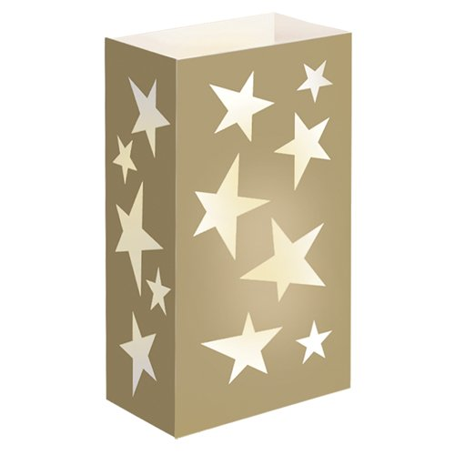Luminaria Bags- Gold Star Standard 100 Count