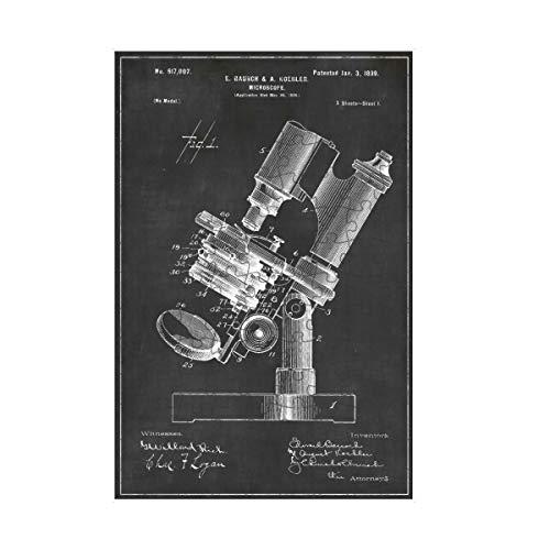 artboxONE-Puzzle S (112 Teile) Schwarzweiß Mikroskop patent - Puzzle Patent Patent Retro