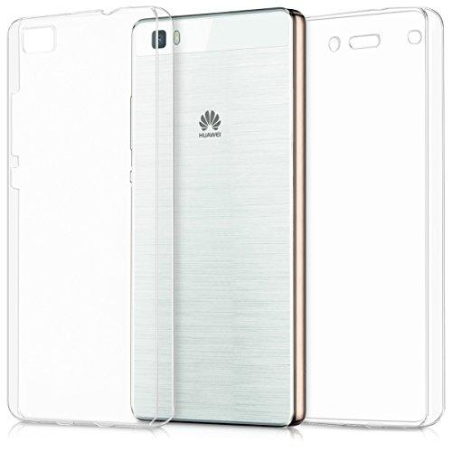 kwmobile Funda Compatible con Huawei P8 Lite (2015) - Carcasa Completa 360 para móvil - Cover Doble - Transparente