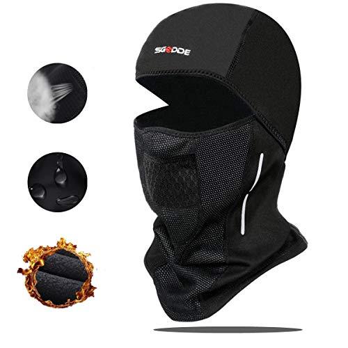 SGODDE Balaclava Ski Mask- Windproof Balaclava for Men Women Bike Face Mask Bicycle Balaclavas Cold Weather Face Mask in Winter for Skiing Snowboarding Motorcycling