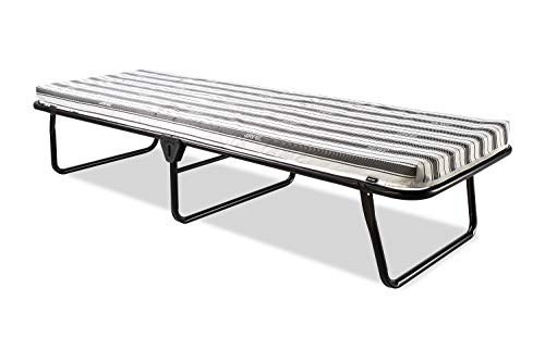 JAY-BE Valor Cama Plegable con colchón de Aire Transpirable, Metal, Negro, 90 x 190 cm