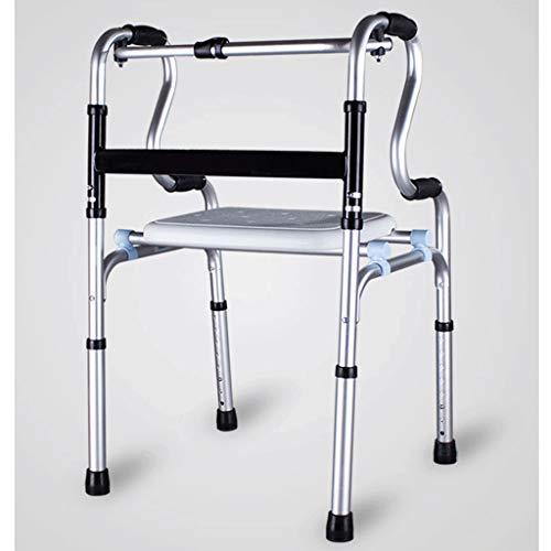 LDG Deambulator vrijloopwielen, lichte walker, inklapbaar, in hoogte verstelbaar, met aluminiumlegering