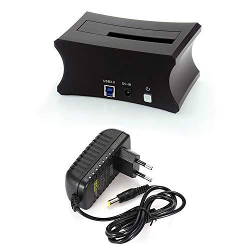 Preisvergleich Produktbild HshDUti Festplatte 2, 5 3, 5 Zoll USB 3.0 zu SATA Externes Festplattengehäuse Docking Adapter Steckdose Black *EU Plug