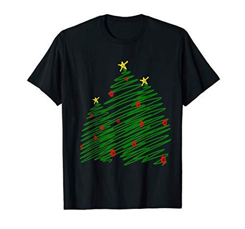 Drei kluge Bäume Weihnachtsbaum-Skizzen-Kunst T-Shirt
