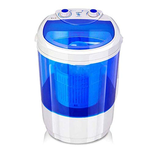 Mini-wasmachine, draagbaar, voor uitspoelen op de camping, mini-wasmachine, druppeleffect, draagbaar, klein, 2,1 – 4,5 kg, capaciteit 350 W