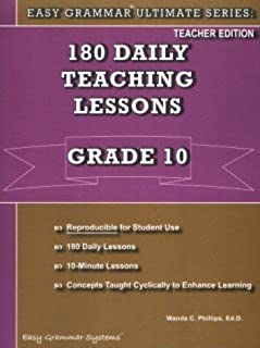 Easy Grammar Ultimate Series Teacher Book - Grade 10