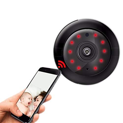 TONG Mini cámara, cámara de vídeo inalámbrica WiFi, más delgada grabadora activada por voz, cámara portátil con visión nocturna, adecuada para familias, al aire libre, tiendas, empresas, etc.