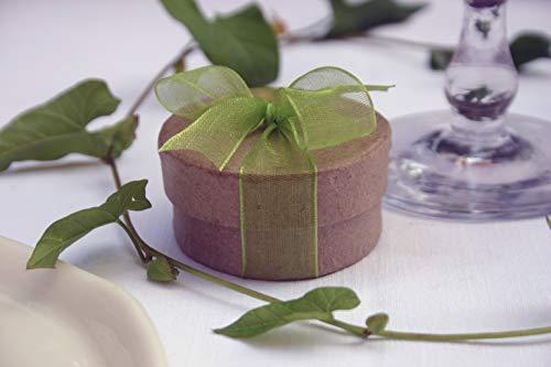 Die Seedball-Manufaktur, Apfel Überraschungs-Seedball, Natur mit apfelgrüner Schleife, 5 cm im Durchmesser