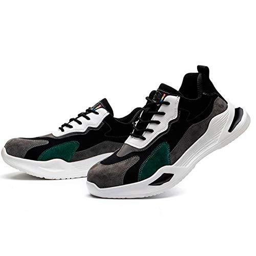 Zapatos de Trabajo,Botas de Seguridad para Hombre con Puntera de Acero y Entresuela de Kevlar Zapatillas de Seguridad Trabajo,Calzado de Industrial y Deportiva,con protección en el Tobillo,EU 35-46