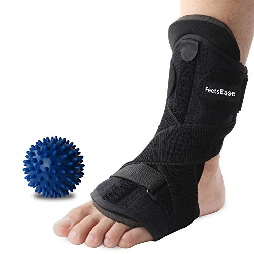FeetsEase Plantar Fasciitis Night Splint and Support for Night Relief - Adjustable Dorsal Night Splint Foot Brace for Foot Drop for Men & Women [1 Pack]