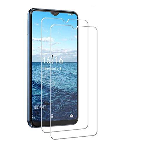 MSOSA Kompatibel mit Panzerglas HTC Desire 19+ Schutzfolie, [2 Stück] 9H Festigkeit Panzerglasfolie HD Bildschirmschutzfolie Vollständige Abdeckung Glas Folie für HTC Desire 19+
