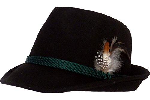 Trachten Chapeau Noir - Noir - 54