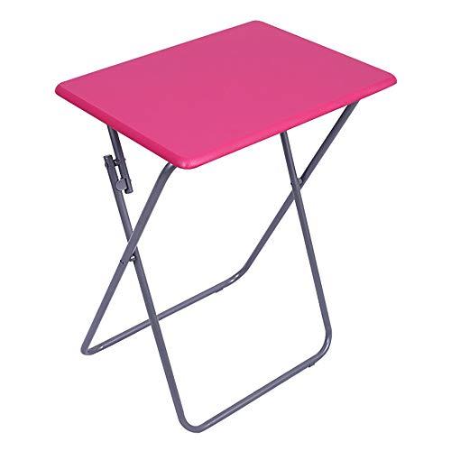 FFSM campingtafel, inklapbaar, eenvoudig, camping, buitenshuis, draagbaar, multifunctioneel, voor picknick buiten, camping, strand, baard 48x38x66cm Rood