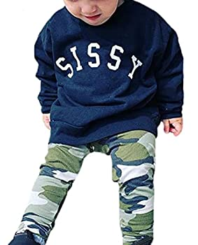 Toddler Baby Boys Clothes Sissy Sweatshirt Boys Sweater Pullover Tops Winter and Fall Clothes  Navy Blue 1-2 T
