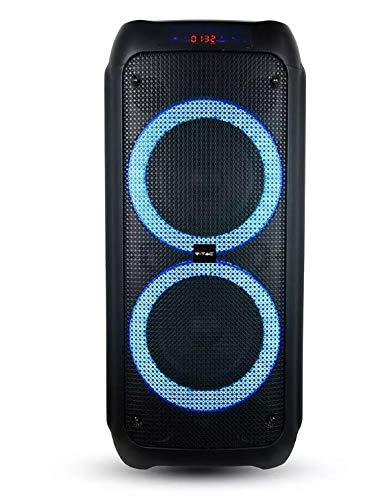 Audio Soundor 8 x 2 caja activa 40 W con Bluetooth Karaoke LED RGB mando a distancia y micrófono VT-6308-2 - SKU 8980
