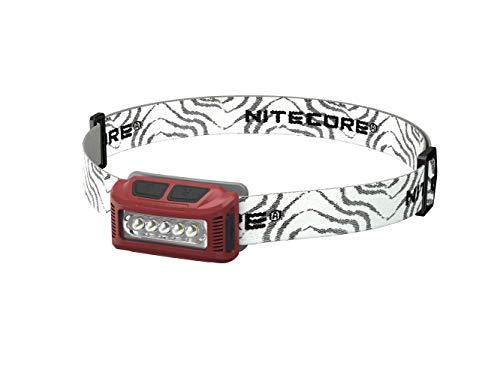 Nitecore NU10R Lampe Frontale de Course à Pied Mixte Adulte, Rouge