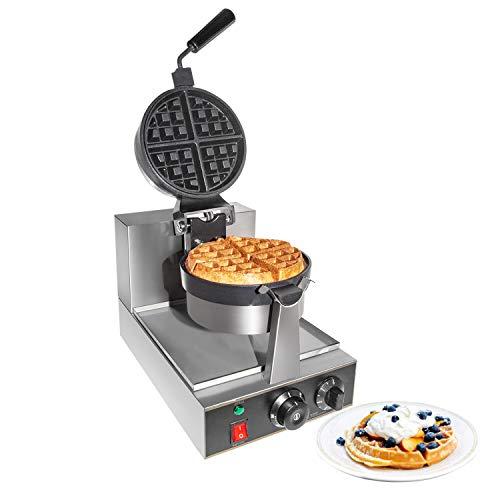 GorillaRock Belgian Waffle Maker | Commercial Flip Waffle Iron | Stainless Steel | Rotating Mechanism | 110V
