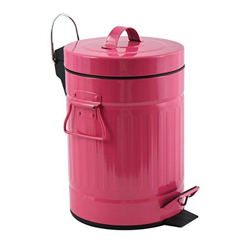 MSV Treteimer 'Habana' Mülleimer Kosmetikeimer Abfalleimer 3L - pink