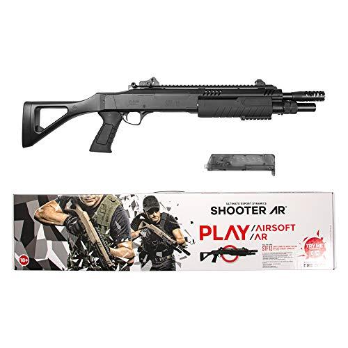 Fucile a Pompa Softair Fabarm STF12 Compact 11 BLACK SHOOTER AR Modalità Di Gioco Interattivo AR Con l'Uso Di Una Semplice Applicazione/Colore Nero – Potenza 0,5 Joule.