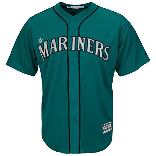 Seattle Mariners Alternate Teal Cool Base Mens Jersey (XL)