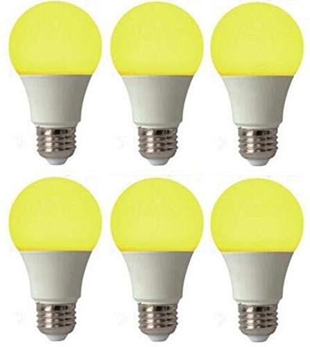 Best to Buy (4 PACK) Bug Light Yellow LED A19 7Watt=70W Medium Base 85-265 Volt UL Listed LED Light Bulb, last 25,000 Hours