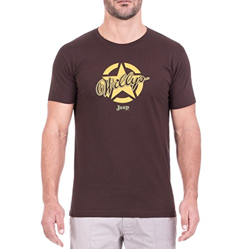 Jeep T- Shirt Star Willys J8S Homme, Black Coffe, m