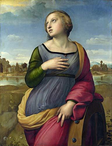 Berkin Arts Raffaello Sanzio Giclee Art Paper Print Art Works Paintings Poster Reproduction(St. Catherine)#XZZ