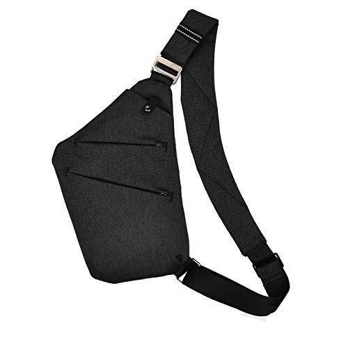 OSOCE Sling Bag, Brusttasche Herren,Anti-Diebstahl Schultertasche für Herren Und Damen (Schwarz)