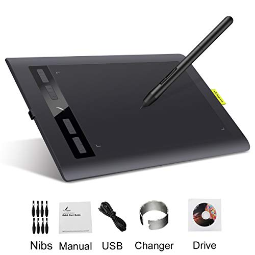 Digital Drawing Tablet Pad, Acepen AP1060 10x6.25in USB Graphics...