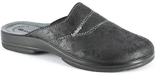 inblu Pantofole Ciabatte Invernali da Uomo MOD. PO-63 Nero (42 EU)