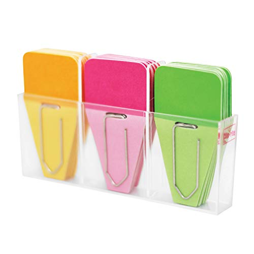 Clip-Rite Clip-Tabs, Solid, Pink/Green/Orange, 24 Per Pack, 6 Packs