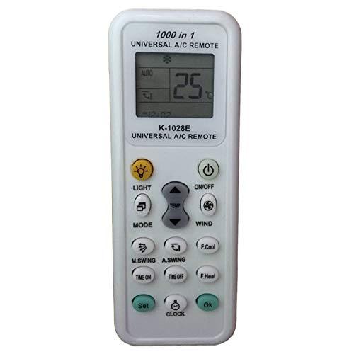 tianxunh Mando Universal para Aire Acondicionado K-1028a - 1000 en 1 Universal A/C Remoto, con Linterna LED - Configuración rápida de enfriamiento/calefacción Viene con Manual en inglés