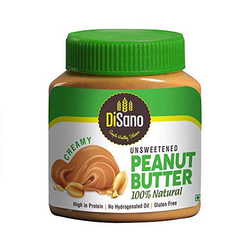 DiSano All Natural Peanut Butter, Creamy, 30% Protein, Unsweetened, Gluten Free, 1 Kg