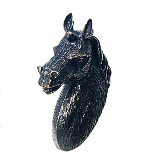 Pomos Para Puertas 2 Manijas De Cajón Manija Creativa Zapatero Armario Manija De La Puerta Del Armario Manija De Animal De Cabeza De Caballo Negro Gama