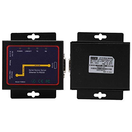 RJ45 a RS232 Servidor Serie Individual, 1 Puerto RS-232/485/422 Convertidor Serie a TCP/IP Ethernet, Servidor Serie BT-N2000RS Servidor de Puerto de conexión de Red Adaptable 10/100/1000Mbps(EU)