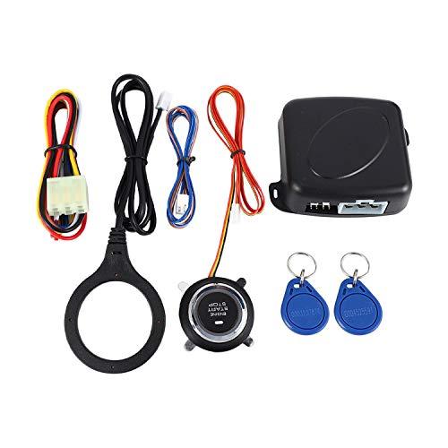 Huante Smart RFID Sistema de Alarma para automovil Push Engine Start Boton de detencion Lock Ignition Inmobilizer con Control Remoto sin Llave Go Entry System 12V